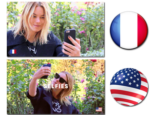 美国姑娘&法国姑娘的5大不同,超模妹子一人分两角示范