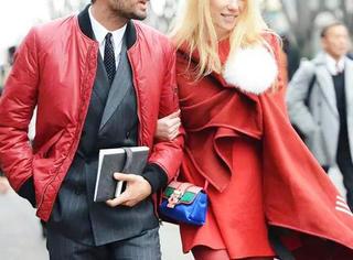 秋冬若想惊艳一把,那就来条红裙吧!