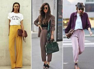 100张街拍 | 穿好裤子,是女人的天职。