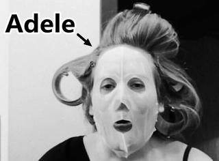 哈哈哈,Adele晒自己的起床面膜照,还以为是见鬼了呢!