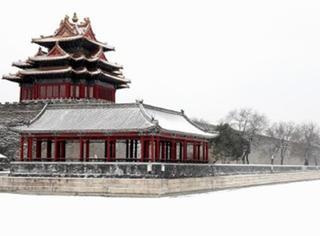 北京下大雪,故宫一下穿越到了明清时的古典样!