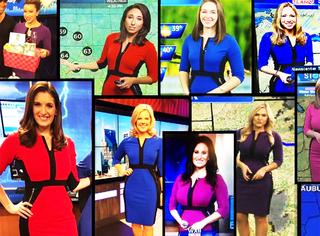 瞎了!全世界天气预报员都穿同一条裙子!脸盲症都要犯了
