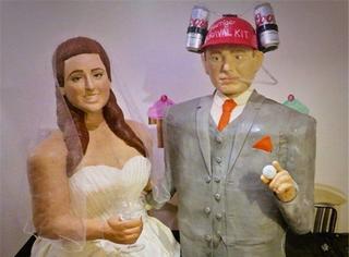 """1:1人形婚礼蛋糕,新郎新娘要""""吃了""""彼此!"""