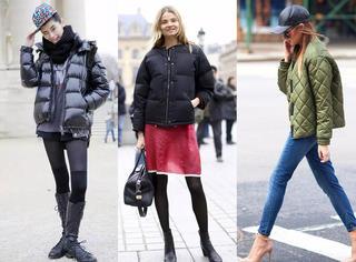 下雪冷化雪更冷,快学超模怎样穿羽绒服出街!