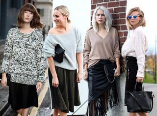 毛衣搭配什么短裙最好看?必备