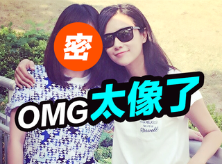 徐静蕾跟她亲妹妹长得一模一样,是双胞胎吧!