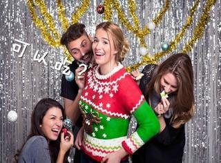 歪国人太会玩!做出了世界上第一件可以吃的圣诞上衣!
