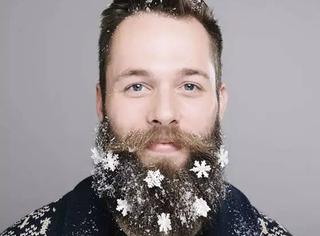 原来,胡子也可以很圣诞!