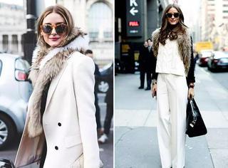 讲真,冬天怎么穿最chic你还得跟她学