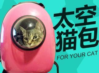 """有了这只神包,猫咪也可以上""""太空""""啦!"""