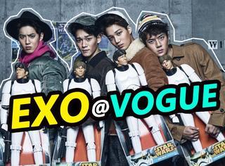 被奶奶带大的EXO四子,画晒伤妆露腿毛登韩国Vogue