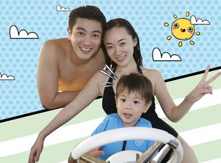 有爱瞬间 | 嗯哼一家泳装照,杜江几乎全裸了,你好意思看吗?