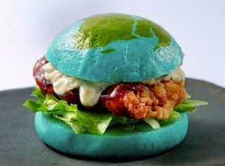 韩国蓝色地球汉堡,一口下去吃掉宇宙