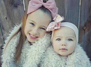 这对相差7岁的甜美姐妹花成了时尚达人
