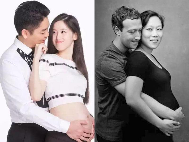 """强东奶茶VS扎克伯格夫妇:从怀孕照看总裁""""怀里""""的女人"""