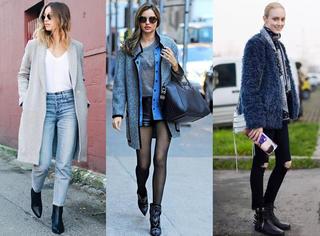 一双踝靴可以搭配你衣橱80%的衣服