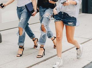 直筒裤再流行,没高跟鞋也不行