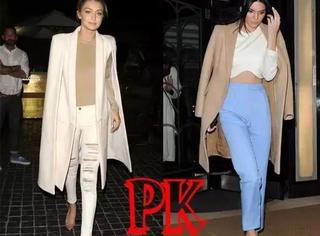 穿大衣选裸色还是驼色?Gigi和金小妹PK来告诉你~