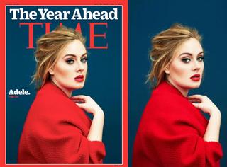 Adele红衣红唇登上《Time》封面,心旷神怡的精致美!