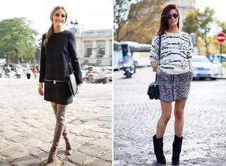 靴筒高度决定了裙摆长度?