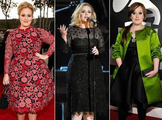 丰满的你年会如何穿得美翻天!Adele就是最好榜样