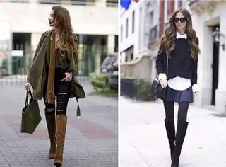 长靴、短靴、过膝靴,各种靴子怎么搭配最漂亮?