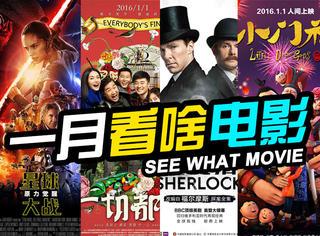 新年快乐!1月份了,我们终于能看到这些电影了!