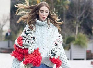 时髦温暖的大毛衣 怎么爱你都不过分