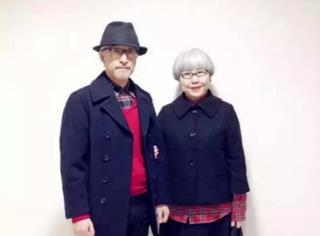 羡慕死单身狗!日本一对老夫妻穿情侣装秀了36年的恩爱...