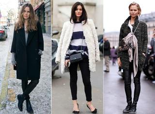 穿好打底裤,保暖又时髦的冬季造型秒Get√
