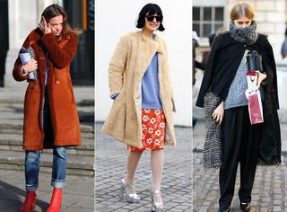 冬天大衣该怎么穿,街头穿搭赶紧过来看啊!!!