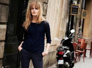 再时髦的姑娘,都得有这么一件黑色打底衫!
