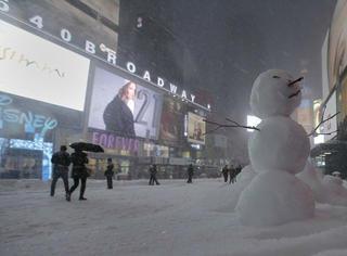 美国人民又把暴风雪玩上了天