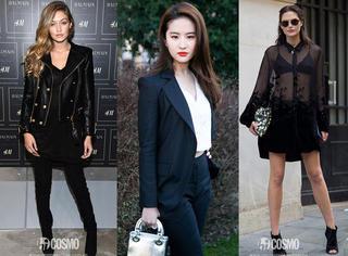 刘亦菲用一身黑秒变会穿girl,你为什么无动于衷