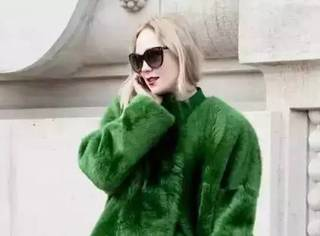 别人都穿红色,范冰冰刘雯却选择了格调绿!