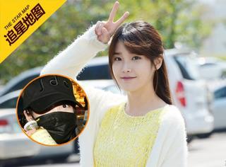 【追星地图】IU返回韩国,机场变身蒙面女侠,却不忘卖萌