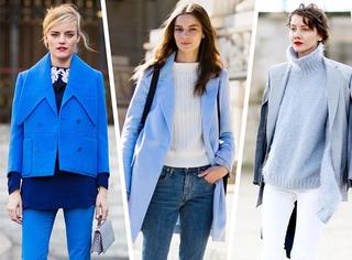 连蓝色都不会穿,还谈什么时尚?