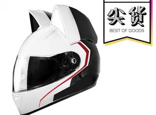 【尖货】动漫主角同款,有了猫耳朵摩托车头盔也变萌了呢!