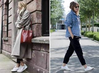 据说,西裤+球鞋才是今年最潮搭配