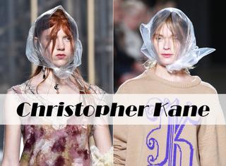 上次尼龙带缠身,这回塑料袋套头,Christopher Kane你咋这么会玩儿啊?