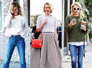 早春换季,用一件毛衣搞定所有搭配!