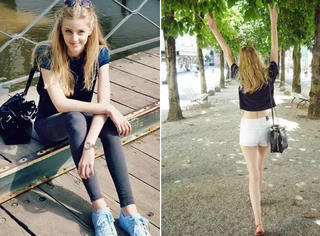 逆天,法国17岁嫩模身高1米81靠双腿成精