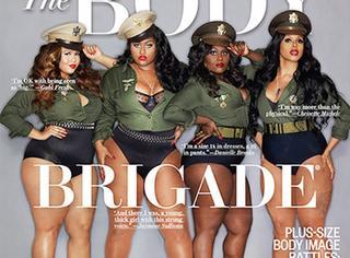 四个胖姑娘上封面,大码身材遮不住性感制服诱惑!