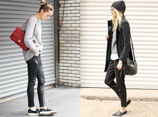 开春穿双黑色平底鞋吧,时髦人们都在穿!