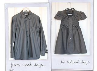 最有爱的衣服 | 用爸爸的衬衫给女儿做条连衣裙