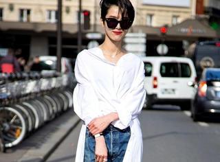 春日里这样穿白衬衫,时髦不费力!