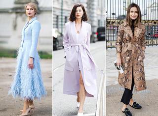 轻薄长外套最时髦 任何身高都能穿好它