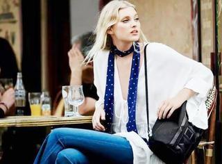 巧搭配|金小妹的长丝巾是女人的领带,百搭衬衫和连衣裙