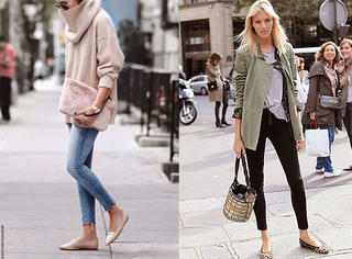 春天就要穿紧身裤+平底鞋,Over!