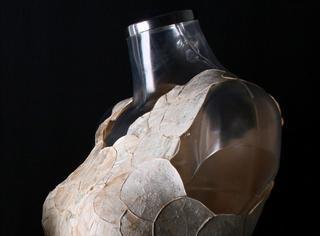 不用布,设计师用蘑菇做了件衣服!